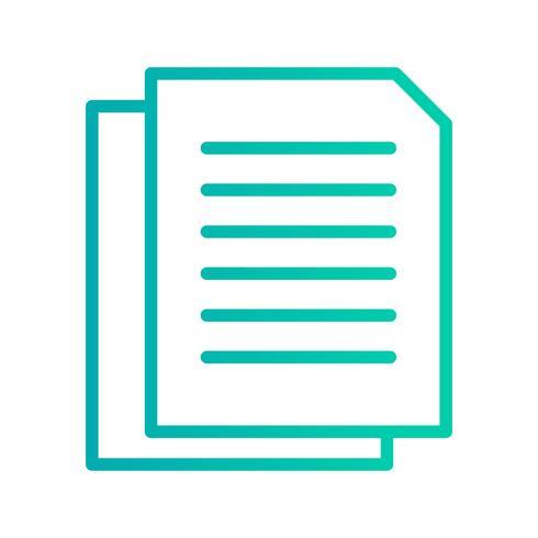 Icona di documenti vettoriali