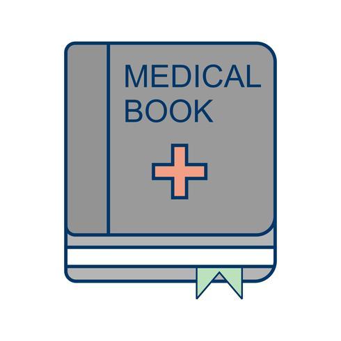 Vector icono de libro médico