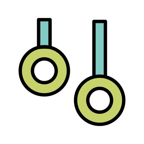 Ringen pictogram vectorillustratie