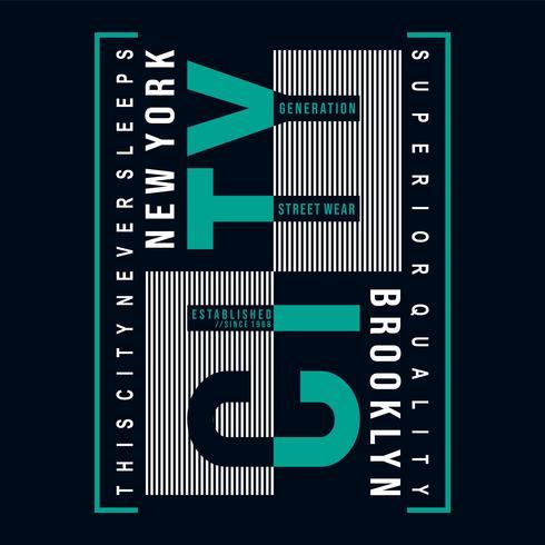 design tipografia brooklyn per t-shirt