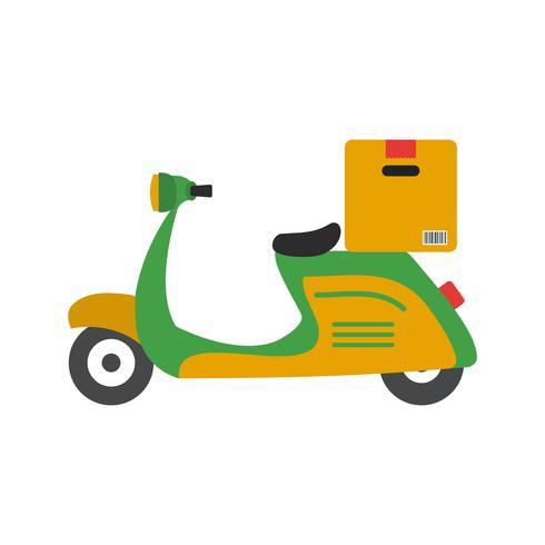 vektor leverans motorcykel ikon