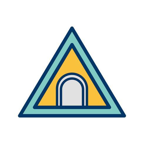Vector tunnel verkeersbord pictogram