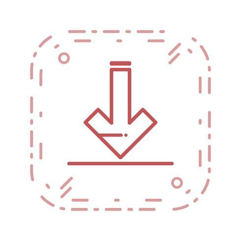 Icono de descarga de vectores
