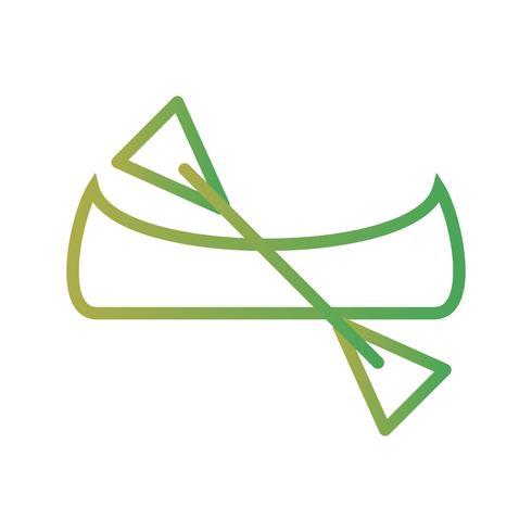Vector Canoe Icon