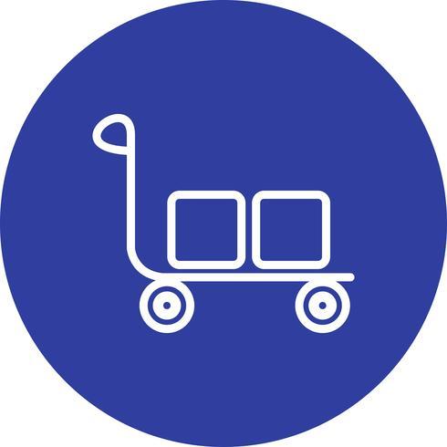 Vektor-Trolley-Symbol