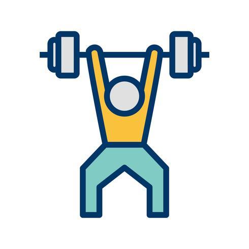 Weightlifting Ikon Vector Illustration