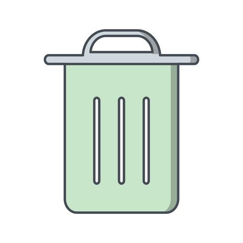 Skräp ikon vektor illustration