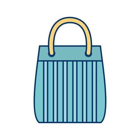 shoppingväska ikon vektor illustration