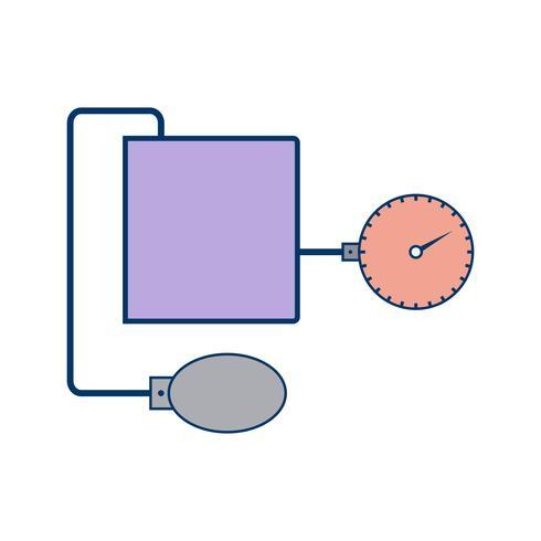 Vector Aparelho de BP ícone