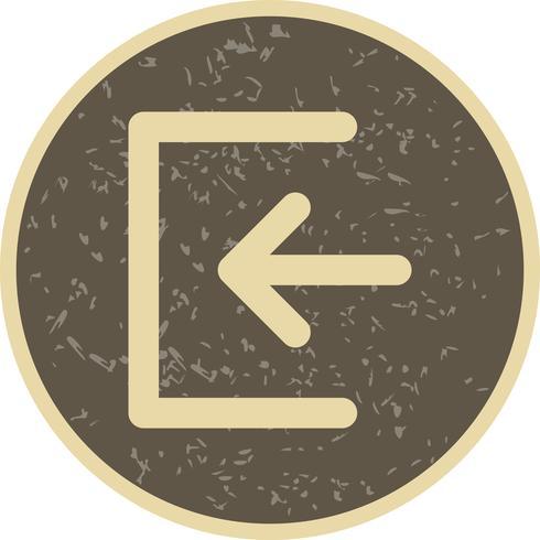 Inicia sesión en icono Vector