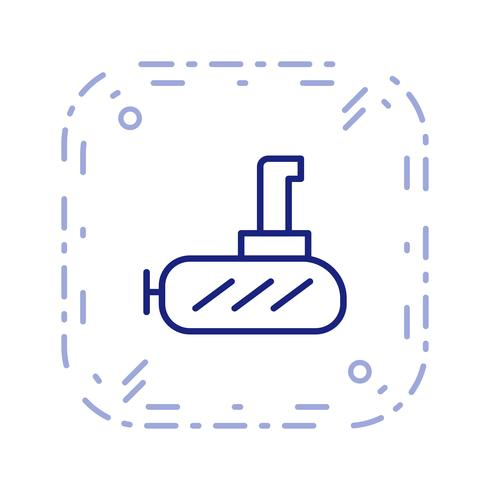 Vector onderzeeër pictogram