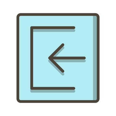 Melden Sie sich in der Icon-Vektor-Illustration an