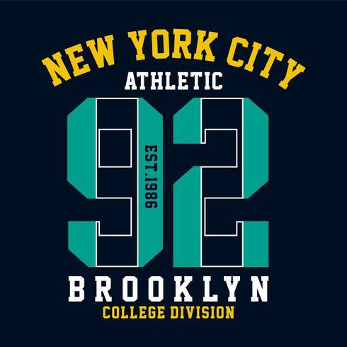 brooklyn design gráfico para t-shirt e imprimir outros usos