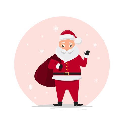 mignons personnages du père Noël dans différentes émotions.