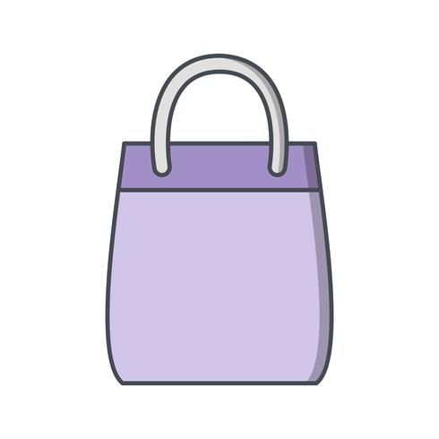 Sac à provisions icône Illustration vectorielle