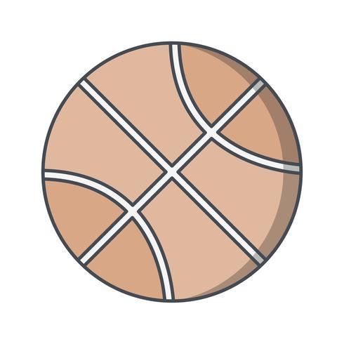 Icono de baloncesto Vector ilustración