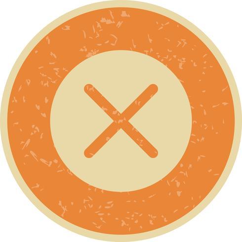 Cancelar a ilustração vetorial de ícone