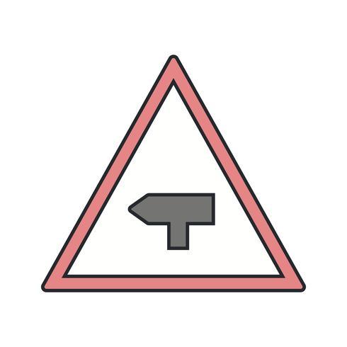 Vector Major cross road Road Sign Icon