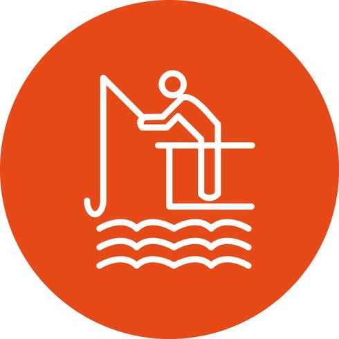Ilustração em vetor ícone pesca