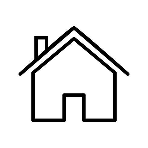 Icono de casa ilustración vectorial