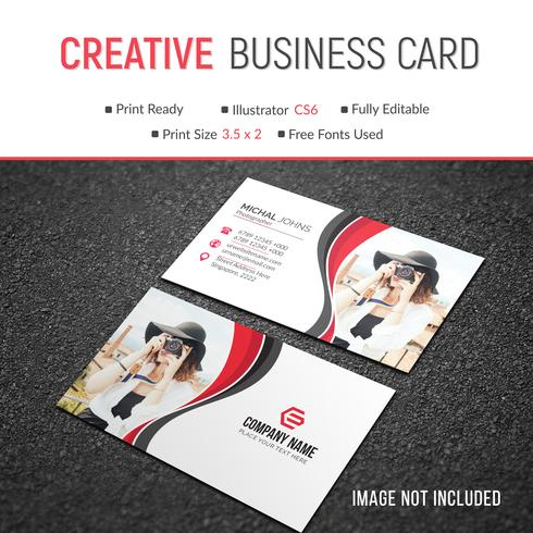 Cartão corporativo elegante