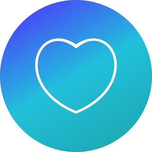 Ilustração em vetor ícone coração