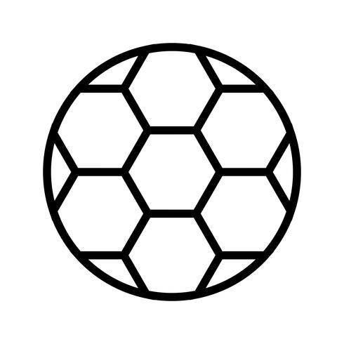 Icono de fútbol ilustración vectorial