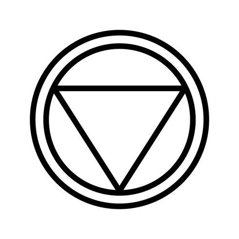 Vector Distancia para detener el icono de señal de tráfico