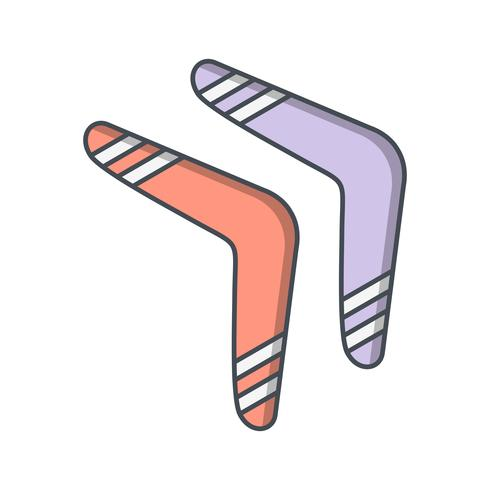 Boomerang Icon Vector Illustration