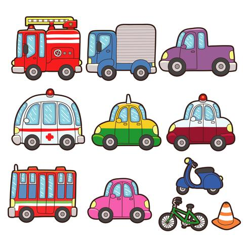 Ce graphique est un ensemble d'icônes de transport. Illustration vecteur