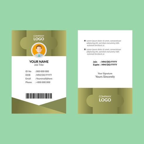 Tarjeta de identificación de Olive 7