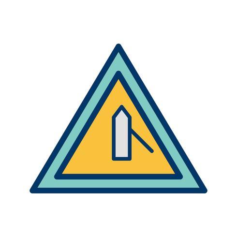 Vektor-Querstraße vom rechten Verkehrsschild-Symbol