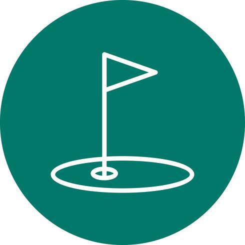 ilustração em vetor ícone golfe