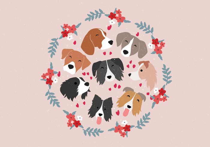 Set de Caras de Animal Perro