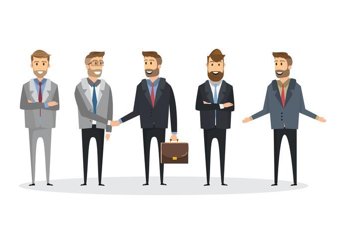 Equipo de personas de negocios, ilustración vectorial en estilo plano