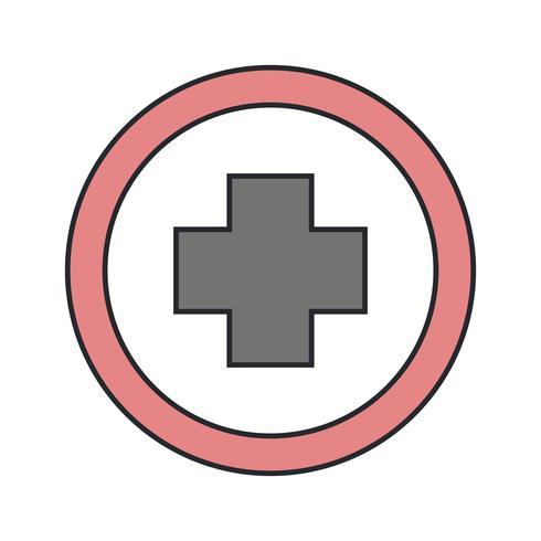 Ícone de sinal de estrada Hospiatal de vetor