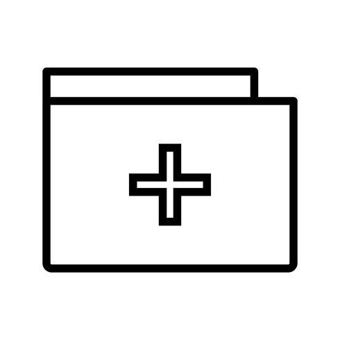 Vector Medical Folder Icon