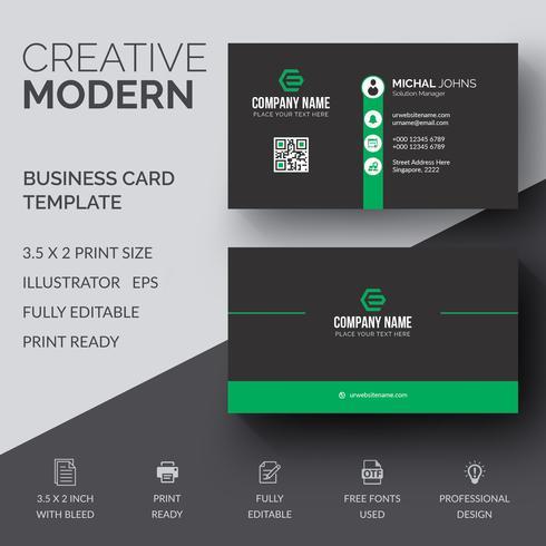 Företagskort mall vektor