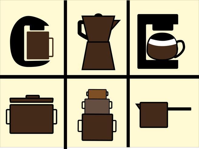 Cafetera vectores