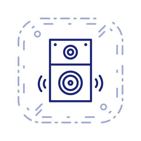 Ilustração em vetor ícone alto-falante