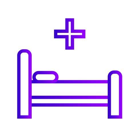 Vector icono de cama
