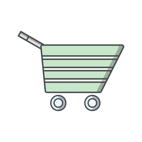 Illustrazione di vettore dell'icona del carrello
