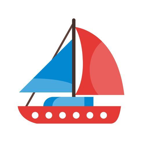 Icône de yacht de vecteur