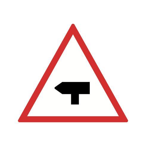 Vector Belangrijkste kruis weg verkeersbord pictogram