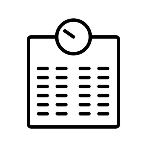 Ícone de máquina de ponderação de vetor