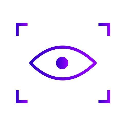 Ícone de digitalização de vetor