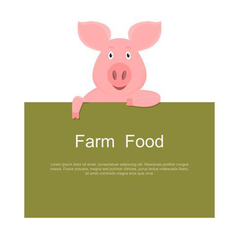 klein varken bedrijf leeg groen teken geïsoleerd op witte achtergrond
