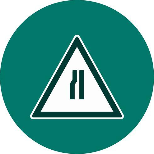 Vector Road smalnar på vänster vägskylt ikon