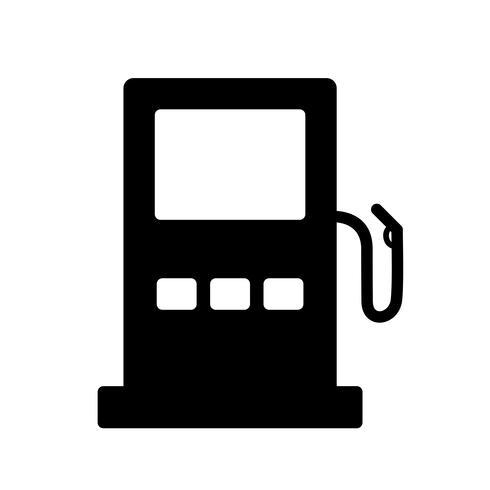 Icona del segnale stradale della stazione di servizio di vettore