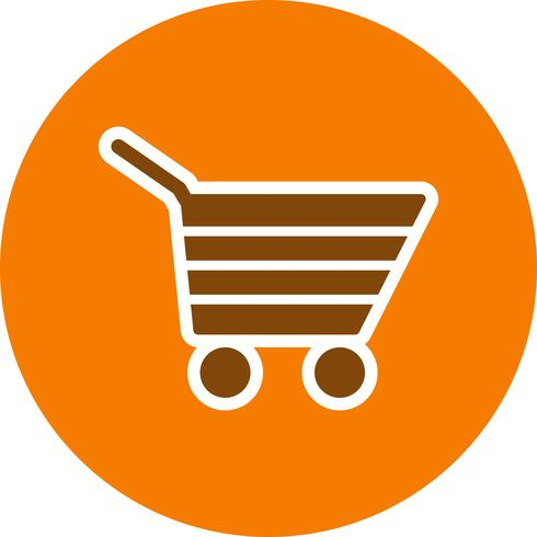 Ilustração em vetor ícone carrinho de compras